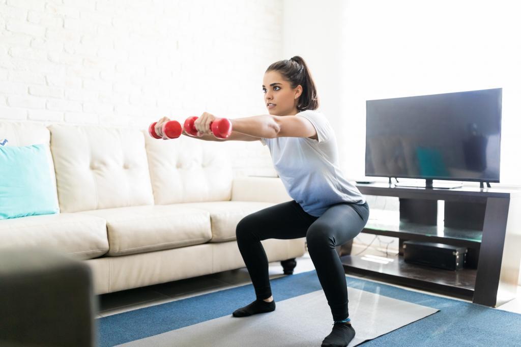 ejercicios para hacer en casa con mancuernas